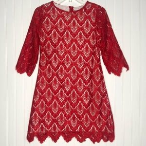 RARE EDITION Girls Foral overlay lace dress